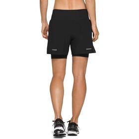 "asics Road 2-N-1 5,5"" Shorts Dames, performance black"